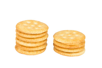 Cracker cream cheese isolated on white background.