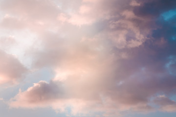 abstract coloured sky with clouds, background