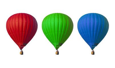 hot air balloons set