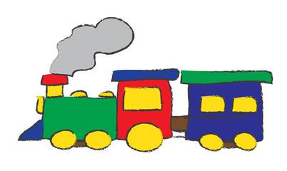 short train drawing