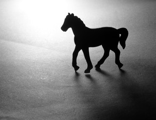 Toy horse silhouette
