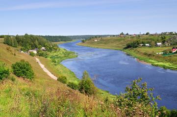 View of the river Volga, Tver region