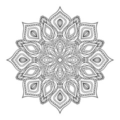 Hand drawn zentangle mandala.