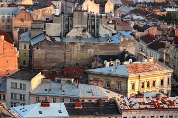 Roofs of old buildings