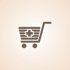 Icon Of Shopping Cart.