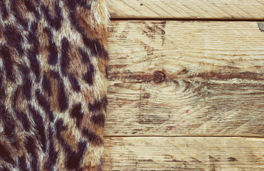 synthetic fur leopard
