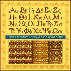 Greek alphabet background