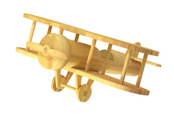 Isolated wooden plane
