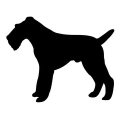 Dog Silhouette Vector EPS 10