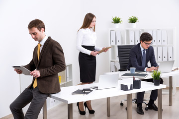 Businesspeople in office