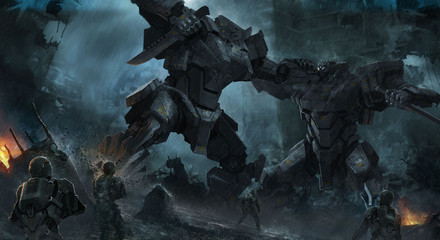 giant mech fight