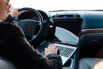 Car, Laptop, Business