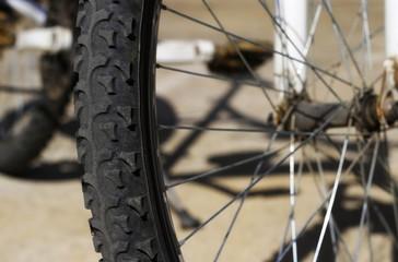 detail bicycle wheel background