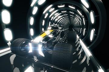 Hot Rod in tunnel side