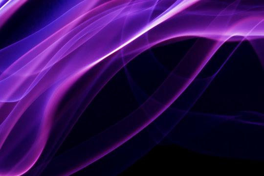 purple smoke on the black background