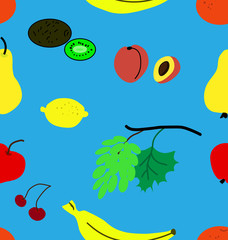 Funny fruit pattern