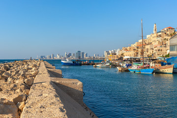 View of old Jaffa, Israel.