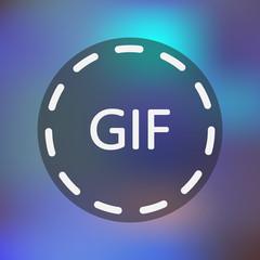 Animated image format icon