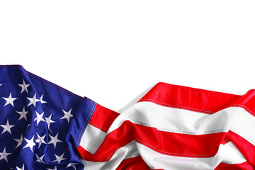 Flag of United States of America isolated on white