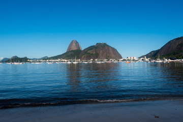 Sugarloaf Mountain in Rio de Janeiro is the Landmark of the City