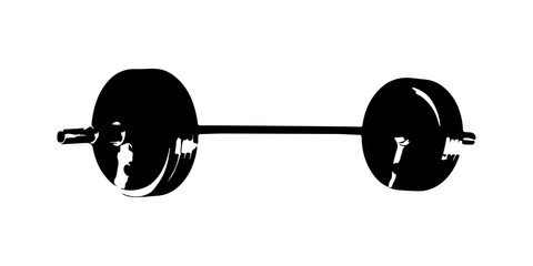 barbell silhouette