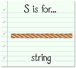 Flashcard letter S is for string