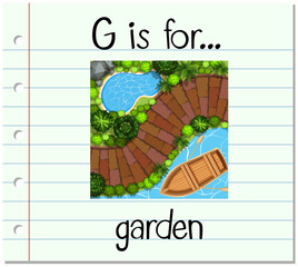 Flashcard letter G is for garden