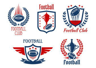 American football sport symbols and icons
