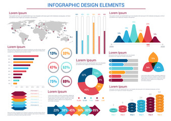 Infographics design charts and elements