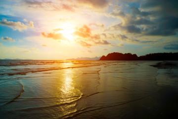 Tropical beach. Sky and sea. Thailand.