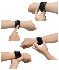 Set of smart watch images