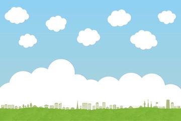 街並みと雲