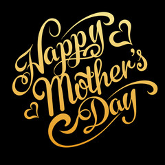 happy mothers day, text, vector
