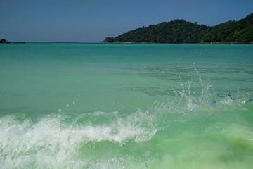 Wall Mural - Beautiful turquoise sea at Surin Island , Thailand