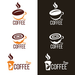coffee cup and Coffee bean   vector set design