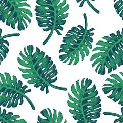 Palm Tree Sketch Pattern
