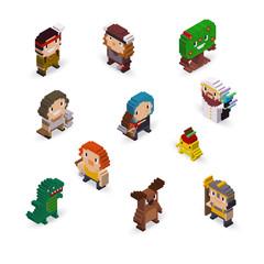 3d Pixel Fantasy