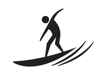 icon surfer, vector