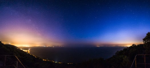 stars on the bay of Trieste