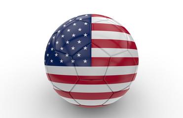 Soccer ball USA  flag