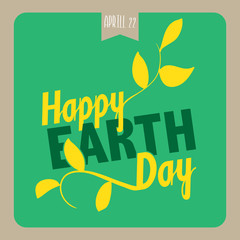 Poster for Earth Day.