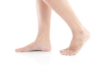 Female feet walking