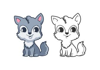 Cute little wolf.