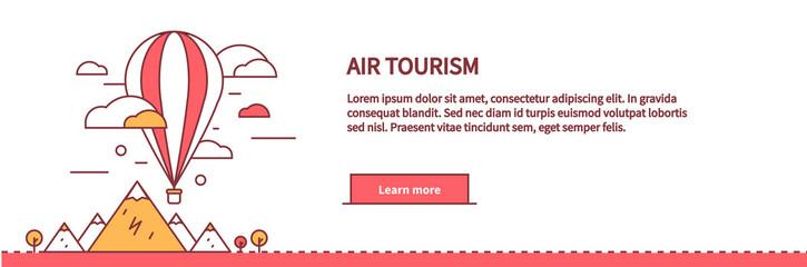 Air Tourism Web Page Design Flat