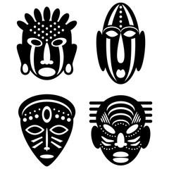 African Masks tribal design
