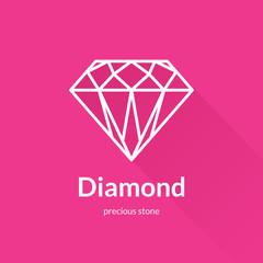 Geometric faceted diamond shape logo