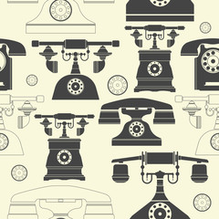 Endless pattern with vintage phones