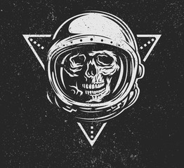 Dead astronaut in spacesuit.