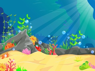 illustration of underwater landscape