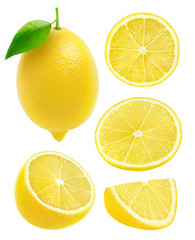 Isolated collection of lemons